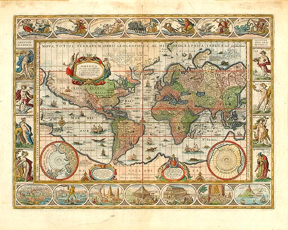 World map with america on the left side and africa europe and asia world map with america on the left side and africa europe and asia on the right side of the sheet 39 005 auctions archaeological center gumiabroncs Images