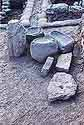 Basalt stone offering tables and standing stones