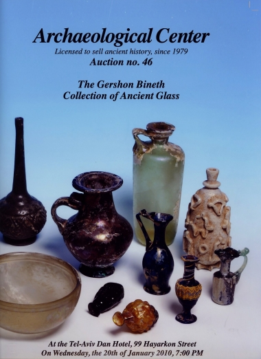 Cover image of Archaeological Center, Auction #46, The Gershon Bineth Collection of Ancient Glass