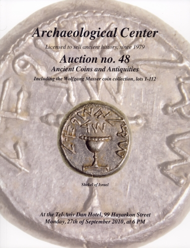 Cover image of Archaeological Center, Auction #48, Ancient Coins & Antiquities