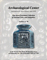 Cover image of Archaeological Center Auction #49, Ancient Coins & Antiquities